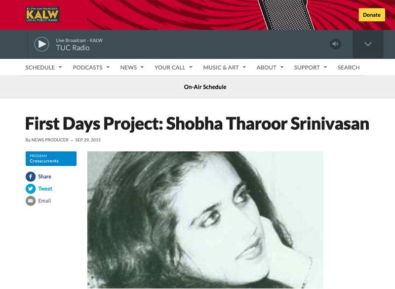 First-Days-Project-Shobha-Tharoor-Srinivasan